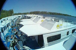 Egan Houseboat Rental Fleet